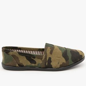Canvas slip ons Camouflage